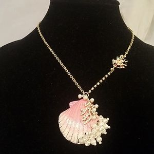 Betsey Johnson shell pearl necklace nwt